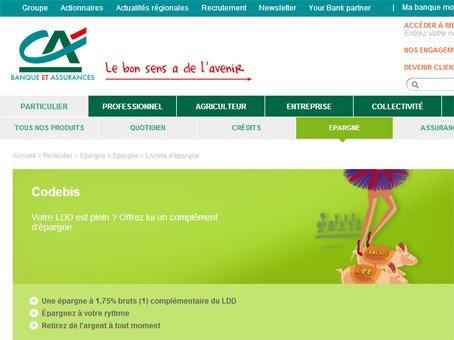 Cr dit agricole livret codebis - Plafond livret developpement durable credit agricole ...