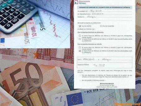 Dispense de versement sur revenus coupons